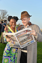 SHINGAI SHONIWA and MR HUDSON at the 2014 Hennessy Gold Cup at Newbury Racecourse, Newbury, Berkshire on 29th November 2014.  The Gold Cup was won by Many Clouds ridden by Leighton Aspell.