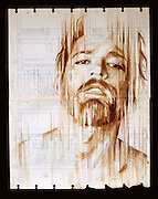 Portraits Painted with Coffee on Century-Old Ledger Paper by Michael Aaron Williams<br /><br />Artist Michael Aaron Williams has been working on a beautiful series of portraits painted with coffee on found sheets of used ledger paper that dates back to the 1920s and 30s.<br />© Michael Aaron Williams/Exclusivepix