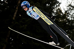 February 7, 2019 - Ljubno, Savinjska, Slovenia - Carina Vogt of Germany competes on qualification day of the FIS Ski Jumping World Cup Ladies Ljubno on February 7, 2019 in Ljubno, Slovenia. (Credit Image: © Rok Rakun/Pacific Press via ZUMA Wire)