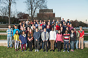 Ohio University Mathematics faculty poses for a group portrait with grad students near Morton Hall on November 15, 2016.