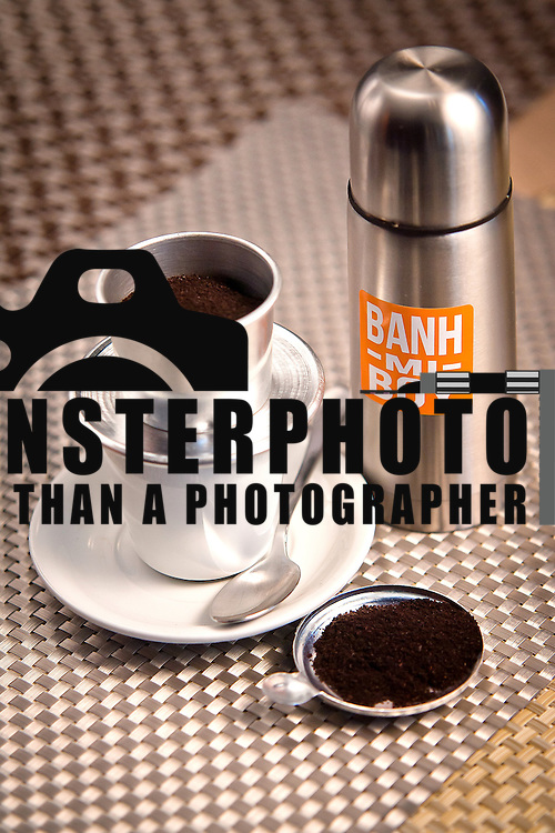 03/18/12 Newark Del. Vietnamese Coffee (Hot) served with condensed milk served at Banh-Mi Boy in Newark Delaware. <br /> <br /> Images were taken Sunday, March. 18, 2012 in Newark, Del.<br /> <br /> Banh-Mi Boy.http://www.banhmiboy.com/<br /> <br /> Special to Monsterphoto/SAQUAN STIMPSON