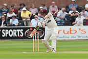 Dom Bess of Somerset batting during the Specsavers County Champ Div 1 match between Somerset County Cricket Club and Nottinghamshire County Cricket Club at the Cooper Associates County Ground, Taunton, United Kingdom on 10 June 2018. Picture by Graham Hunt.