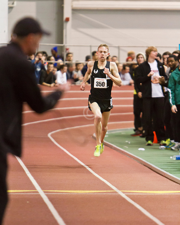 Boston University Terrier Classic Indoor Track Meet: Galen Rupp, Oregon Project, wins Elite Mile 3:50.92 as coach Alberto Salazar times