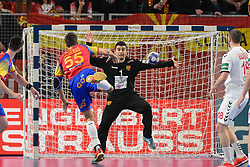 Figueras Adrian of Spain during handball match between National teams of Macedonia and Spain on Day 4 in Main Round of Men's EHF EURO 2018, on January 21, 2018 in Arena Varazdin, Varazdin, Croatia. Photo by Mario Horvat / Sportida