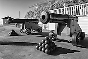 USA, Washington, Fort Vancouver National Historic Site, lagre cannon.