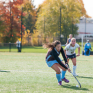 10/31/15 – Medford/Somerville, MA – The field hockey team storms the field to celebrate the postseason victory against Trinity on Saturday, Oct. 31, 2015. (Evan Sayles / The Tufts Daily)