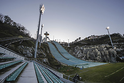 October 30, 2017 - Pyeongchang, Gangwon, South Korea - Oct 30, 2017-Pyeongchang, South Korea-A Shows Alpensia Ski Jumping Centre in Pyeongchang, South Korea. The facility will be used for ski jumping, Nordic combined and snowboarding in the Winter Games in February 2018. (Credit Image: © Ryu Seung Il via ZUMA Wire)
