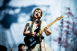 June 14, 2018 - Firenze, Firenze, Italy - The English alternative rock band Wolf Alice performing live on stage at the Firenze Rocks festival 2018, opening for the Foo Fighters. (Credit Image: © Alessandro Bosio/Pacific Press via ZUMA Wire)