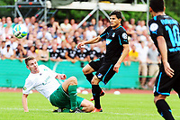 Fotball, 3. august 2013 , Football DFB Cup 1 Round SG  Vegesack 1899 Hoffenheim square 11 in Bremen Nile Goecke Vegesack left Tarik Elyounoussi Hoffenheim<br />