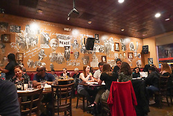A view inside the Busboys and Poets restaurant in Washington DC in the United States. From a series of travel photos in the United States. Photo date: Sunday, April 1, 2018. Photo credit should read: Richard Gray/EMPICS