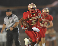 Lafayette High's Demarkous Dennis (5) runs 46 yards for a touchdown  at William L. Buford Stadium in Oxford, Miss. on Friday, September 2, 2011. Lafayette won 40-12