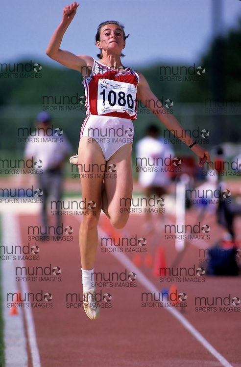 (Bufallo, New York---21 July 1993)   competing in the long jump at the 1993 World Student Games (FISU). Copyright Sean Burges / Mundo Sport Images, 1993