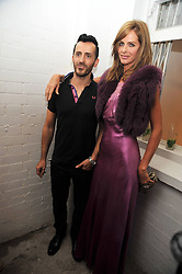 TRINNY WOODALL and KINDER AGGUGINI at the opening of his pop up shop at 35 South Audley Street, London W1 on 19th September 2009.