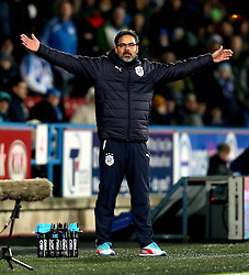 Huddersfield Town manager David Wagner looks frustrated at his side not winning a penalty for a tackle on Nahki Wells of Huddersfield Town - Mandatory by-line: Robbie Stephenson/JMP - 28/11/2016 - FOOTBALL - The John Smith's Stadium - Huddersfield, England - Huddersfield Town v Wigan Athletic - Sky Bet Championship