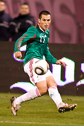 February 24, 2010; San Francisco, CA, USA;  Mexico forward Javier Hernandez (11) during the second half against Bolivia at Candlestick Park. Mexico defeated Bolivia 5-0.