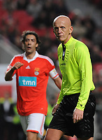 20100125: LISBON, PORTUGAL - 7th Charity Football Match against Poverty: SL Benfica All Stars vs Zidane & Kaka Friends. All the money rose from ticket sales and donations will go to the victims of Haiti Earthquake. In picture: former referee Pierluigi Collina and Rui Costa. PHOTO: Alvaro Isidoro/CITYFILES