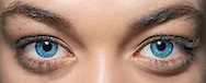Close-up of Joely Live eyes.  Iris has been enchanced for the client. Photography by Darryl Torckler