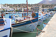Heraklion, Crete Island Greece, Fishing boats in the Old harbour