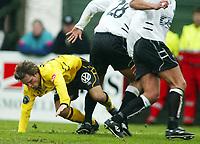 Fotball, 21. april 2002. Tippeligaen, Sogndal v  Start. Fosshaugane. Kristofer Hæstad, Start.