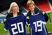 *** during the press conference for the Scotland Women's team World Cup Funding Announcement held at Hampden Park, Glasgow, United Kingdom on 26 September 2018.