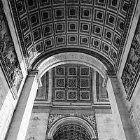The Arc de Triomphe is seen pictured in April of 2015 in Paris, France. The Arc honors those who fought and died for France in the French Revolutionary and the Napoleonic Wars, with the names of all French victories and generals inscribed on its inner and outer surfaces. Beneath its vault lies the Tomb of the Unknown Soldier from World War I.<br />