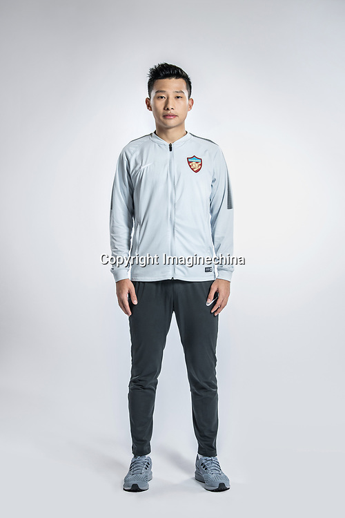 **EXCLUSIVE**Portrait of Chinese soccer player Liu Yue of Tianjin Quanjian F.C. for the 2018 Chinese Football Association Super League, in Yancheng city, east China's Jiangsu province, 9 February 2018.