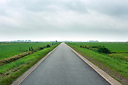 North Holland landscape with vanishing perspective road