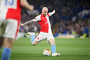 Slavia Prague's Miroslav Stoch (17) lets fly with a shot during the Europa League quarter-final, leg 2 of 2 match between Chelsea and Slavia Prague at Stamford Bridge, London, England on 18 April 2019.