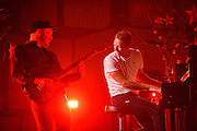 Coldplay performing at the iHeartRadio Music Festival in Las Vegas, Nevada on Sepembter 20, 2014.