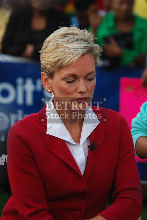 "On September 25, 2008, NBC's Today Show filmed live from Campus Martius in Downtown Detroit. Ann Curry interviewed Michigan Governor Jennifer Granholm on the current status of the Michigan and United States economy and the ""Bail Out"" issue."