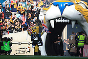 Jacksonville Jaguars enter the stadium during the International Series match between Indianapolis Colts and Jacksonville Jaguars at Wembley Stadium, London, England on 2 October 2016. Photo by Jason Brown.