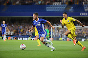 Chelsea attacker Eden Hazard (10) dribbling during the EFL Cup match between Chelsea and Bristol Rovers at Stamford Bridge, London, England on 23 August 2016. Photo by Matthew Redman.