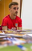 Antoine Griezmann during the interview.  May 19, 2016. (ALTERPHOTOS/Rodrigo Jimenez)
