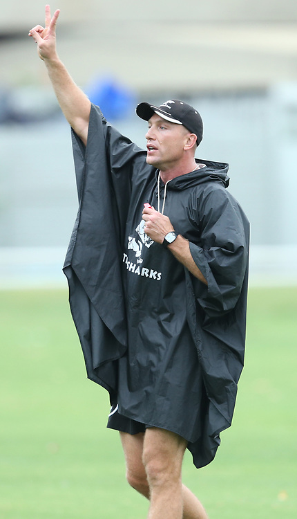 DURBAN, SOUTH AFRICA - MARCH 03: Brad MacLeod-Henderson(Performance Analyst) of the Cell C Sharks during the Cell C Sharks training session at Growthpoint Kings Park on March 03, 2014 in Durban, South Africa. (Photo by Steve Haag/Gallo Images)