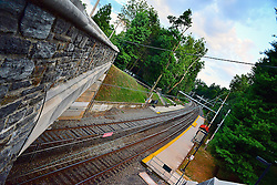 Tracks at the Highland train station. (Bas Slabbers/for NewsWorks)