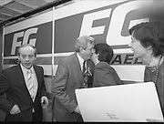 Garret Fitzgerald Stands Down As Fine Gael Leader.(R52)..1987..11.03.1987..03.11.1987..11th March 1987..After the loss at the recent general election Dr Garret Fitzgerald took the decision to resign as leader of the Fine Gael Party...Image shows Dr Fitzgerald accepting a kiss from a well wisher.