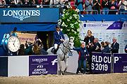 Peder Fredricson and Catch Me Not S third in the world cup final<br /> FEI World Cup Final Gothenburg 2019<br /> &copy; DigiShots