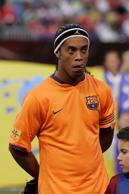 Ronaldinho of FC Barcelona at Giants Stadium in East Rutherford, New Jersey, Saturday 12 August  2006.