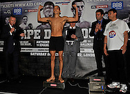 Picture by Alan Stanford/Focus Images Ltd +44 7915 056117<br />04/10/2013<br />Lee Selby pictured during Matchroom Sports weigh in at The O2 Arena, London.