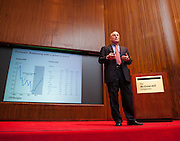 Bruce Kasman, Ph.D., Chief Economist and Managing Director of Economic Research for JPMorgan presenting at the 10th National W!SE MoneyPOWER Conference held November 6, 2012 at McGraw HIll in New York brought teachers and financial experts together for a day of learning.