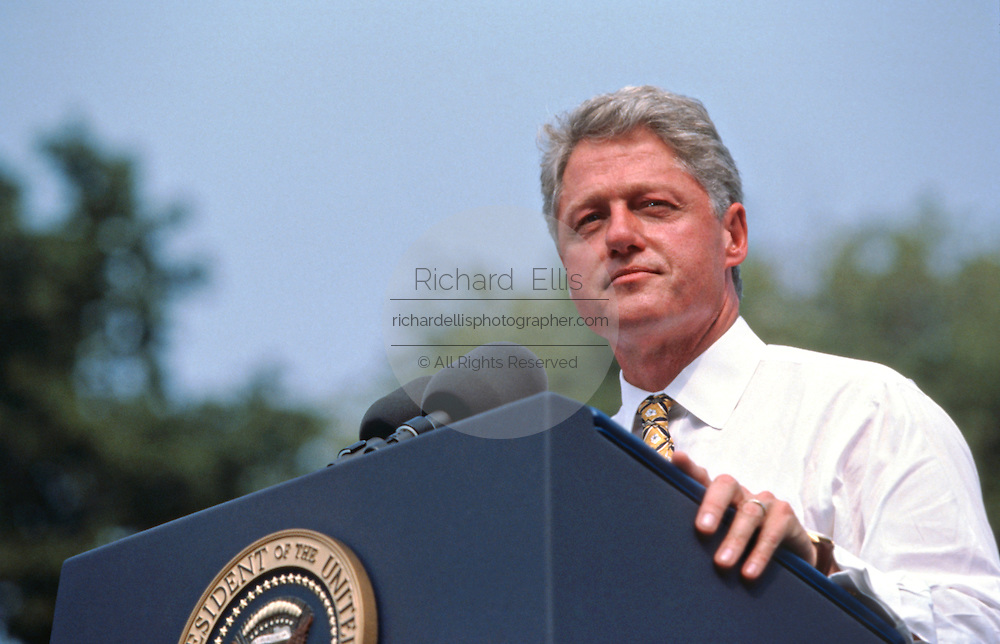 CAIRO, IL - August 30: US President Bill Clinton during a campaign rally August 30, 1996 in Cairo, IL.     (Photo Richard Ellis)