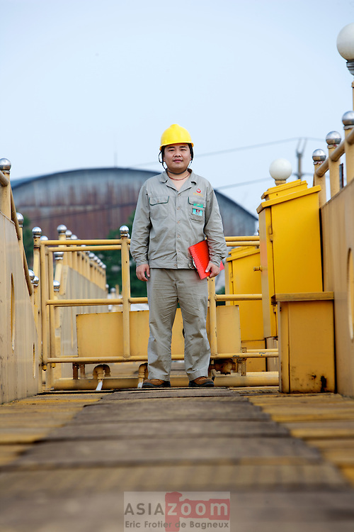 Employee at Liuzhou WWTP, CHina 2008