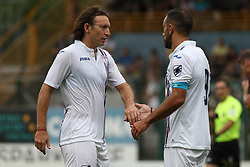 July 28, 2018 - Trento, TN, Italy - Egar Barreto and Fabio Quagliarella during the Pre-Season friendly between Sampdoria and Parma, in Trento on July 28, 2018, Italy  (Credit Image: © Emmanuele Ciancaglini/NurPhoto via ZUMA Press)