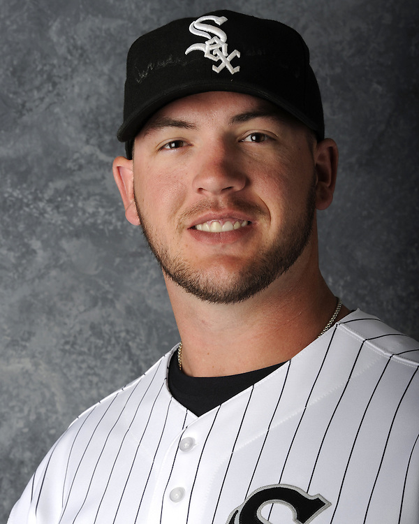 GLENDALE, AZ - MARCH 03:  Tyler Flowers of the Chicago White Sox poses for his official team headshot during photo day on March 3, 2012 at The Ballpark at Camelback Ranch in Glendale, Arizona. (Photo by Ron Vesely)   Subject:   Tyler Flowers