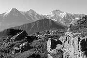 Sicht auf Eiger, Mönch und Jungfrau von Schynigge Platte