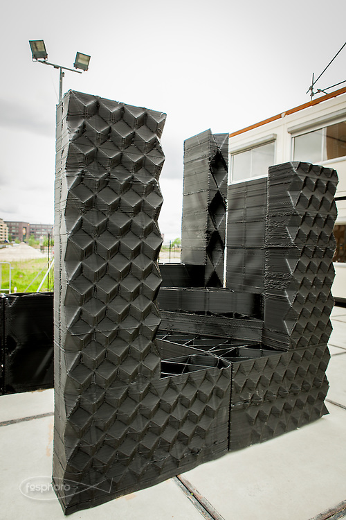 Amsterdam, May 2014 -3D Print Canal House, The modular design of the house. The particular of external wall.