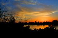 Sunset at the Riparian preserve, Gilbert, Arizona