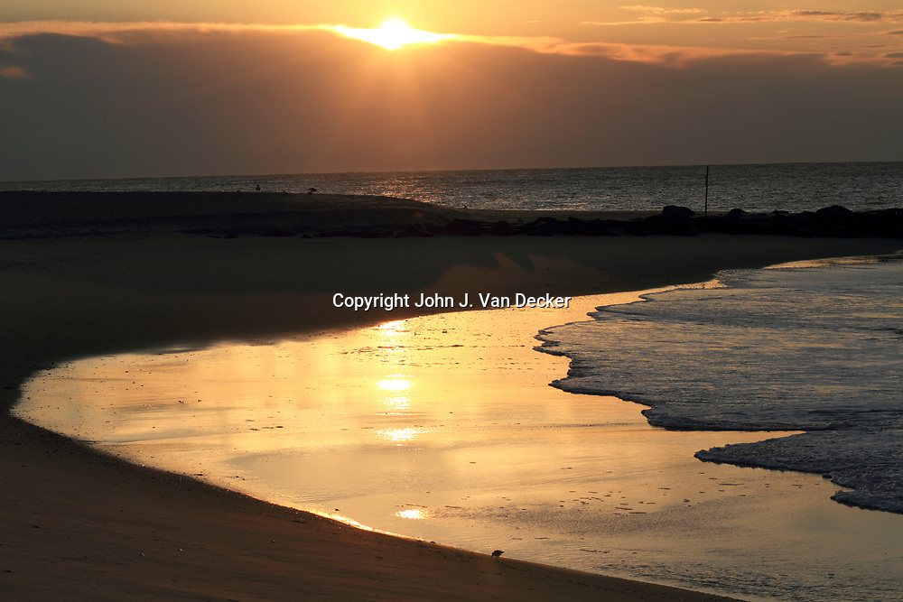 Sunrise at the beach, Cape May, New Jersey, USA