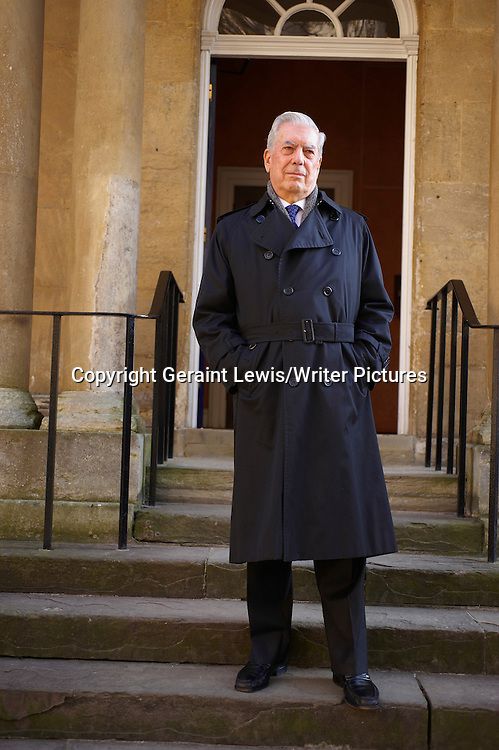 Mario Vargas Llosa , Peruvian Novelist,Writer,Politician,Journalist and essayist at the Oxford Literary Festival at Christchurch College Oxford.<br /> <br /> copyright Geraint Lewis/Writer Pictures<br /> contact +44 (0)20 822 41564<br /> info@writerpictures.com<br /> www.writerpictures.com
