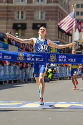 BAA Invitational Road Mile, Scholastic Boys Mile, winner Mike Schlichting